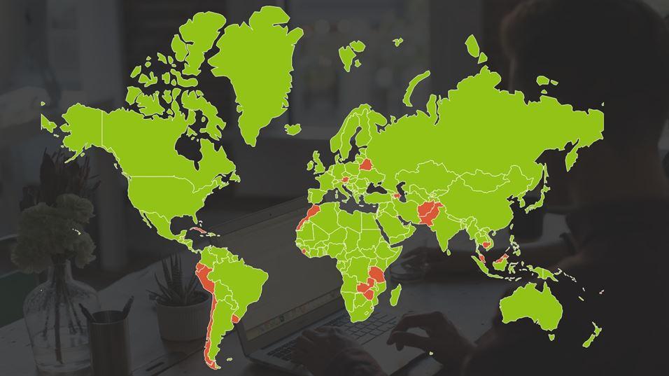 Worlds Internet penetration